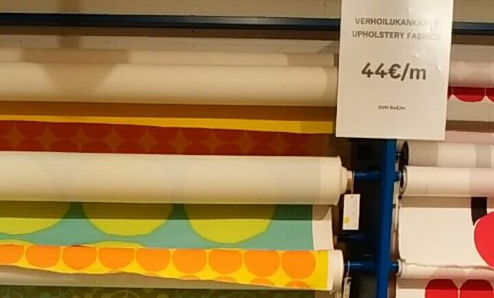 マリメッコの室内装飾用・内装生地は44ユーロ