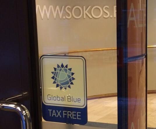グローバルブルーのマークがある店舗で40ユーロ以上購入すると免税の権利がある