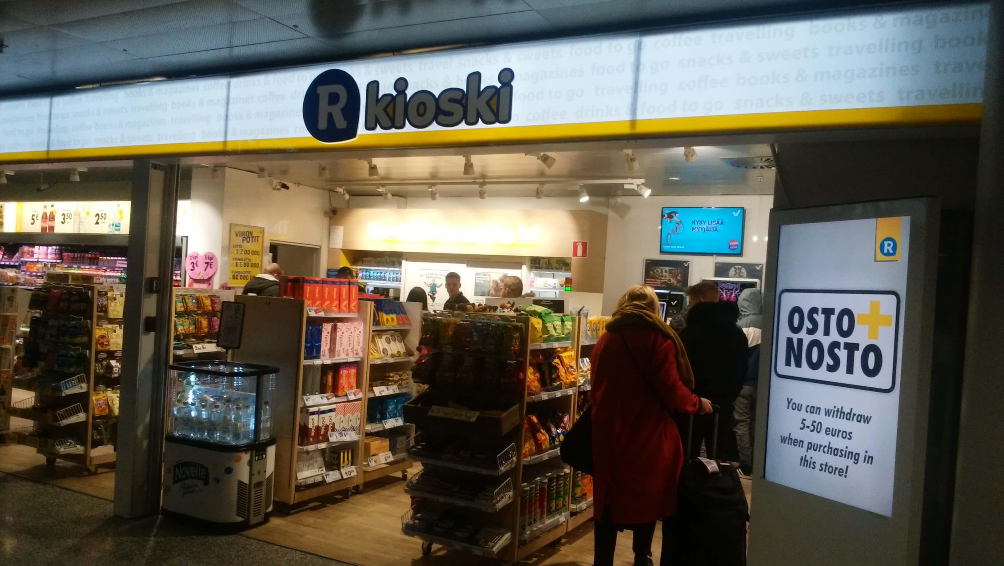 フィンランドの空港で見かけたキオスク