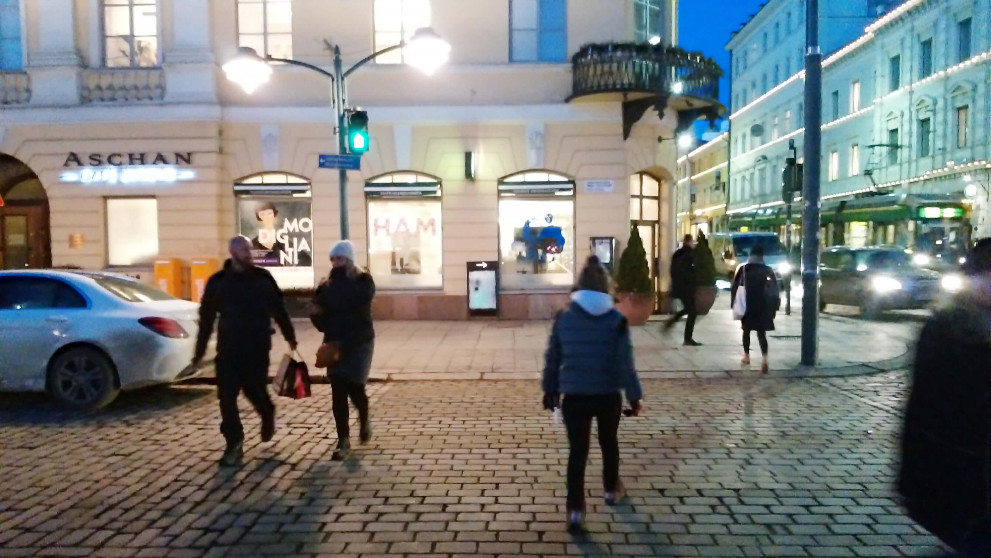 ヘルシンキ中心街の観光案内所の外観