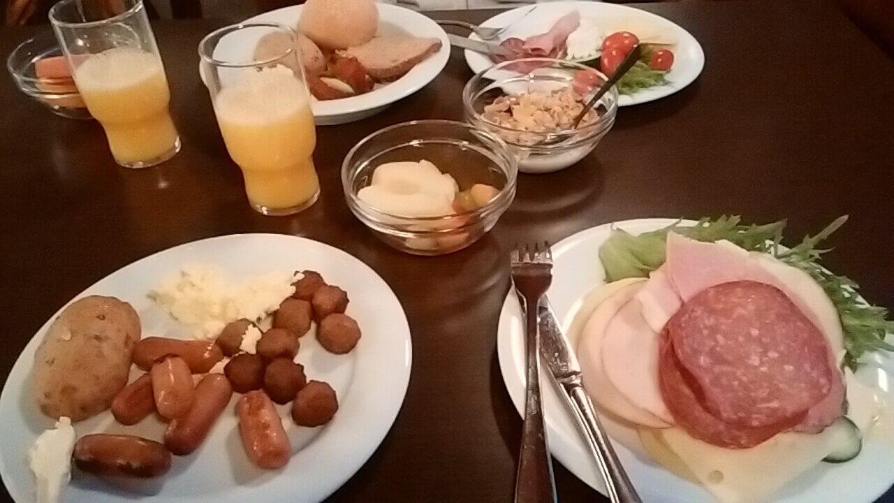 ソコスヴァークナで食べた朝食