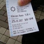 トラムで購入した公共交通の一日券