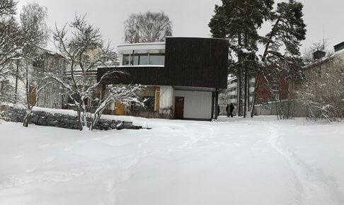 アアルト自邸を中庭から撮影(パノラマ撮影)