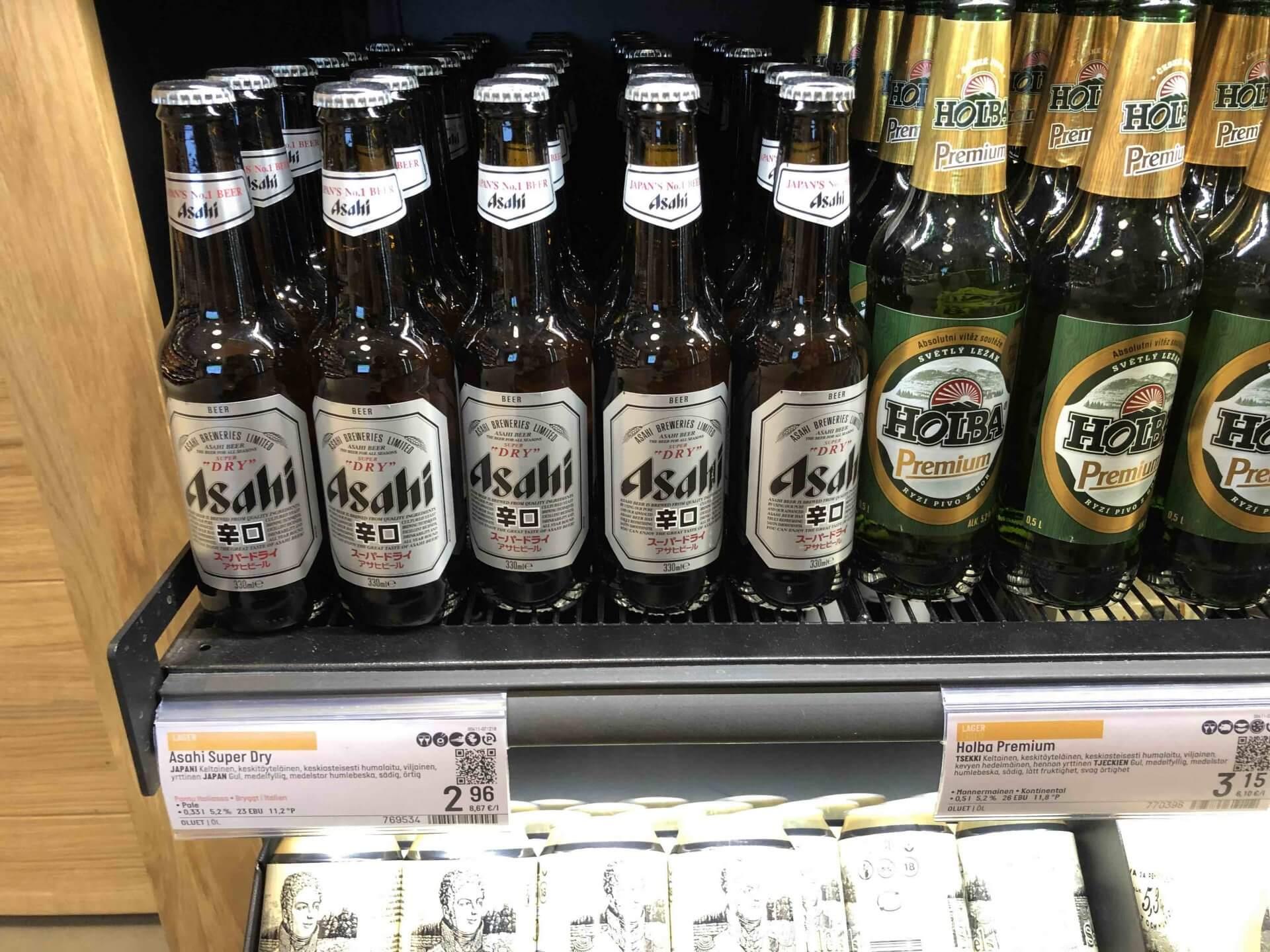 フィンランドで販売されていたアサヒスーパードライ