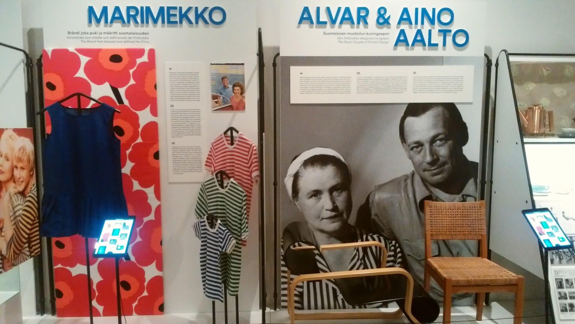 マリメッコとアアルト展示
