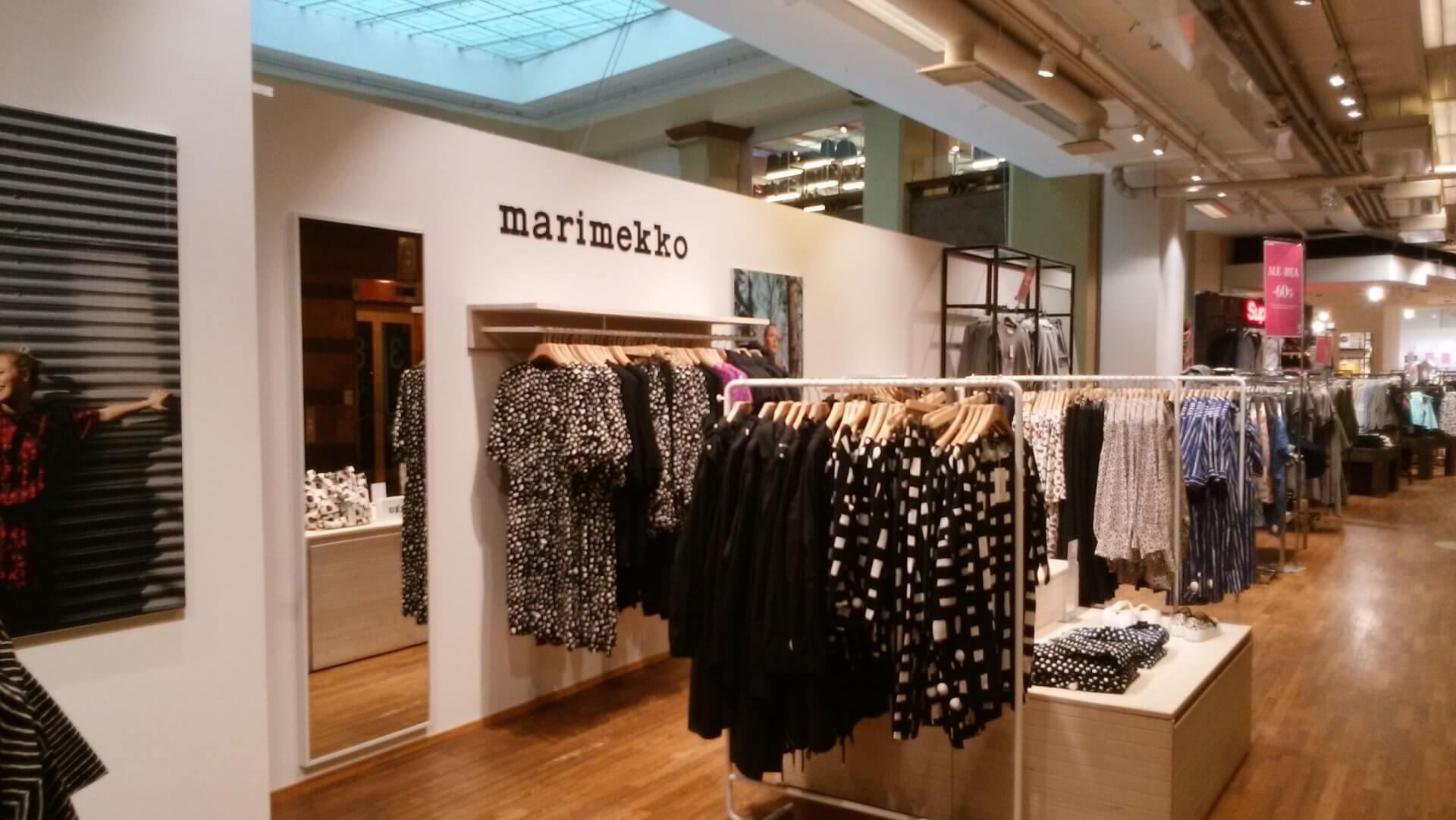 ストックマン3Fにあるアパレル店のマリメッコ